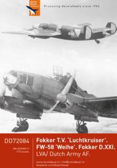 DD72084 Fokker T.V.FW-58