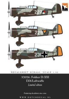 DD32026 Fokker D.XXI LVA