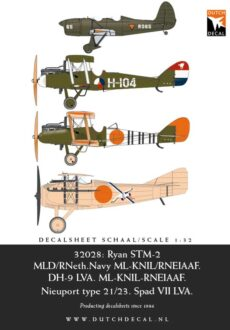 DD32028 Ryan STM-2, DH-9, Nieuport 21, Spad VII