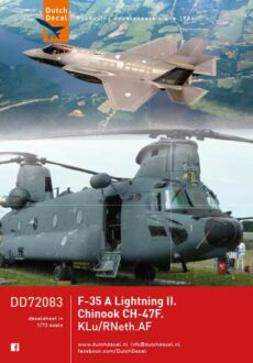 DD72083 Chinook. F-35 Lightning