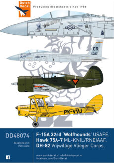 DD48074 F-15 USAFE. Hawk 75. DH-82