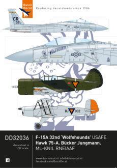 DD32036 F-15 USAFE. Hawk 75. Jungmann.