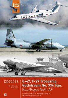 DD72096 C-47 F-27 Gulfstream KLu