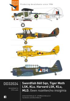DD32024 Harvard, Tiger Moth, Swordfish